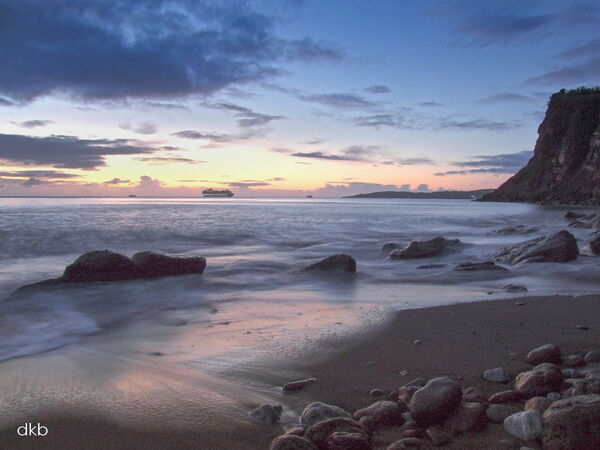 Early morning glow Ness Beach, Shaldon