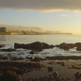 Misty dawn over Teignmouth from Shaldon