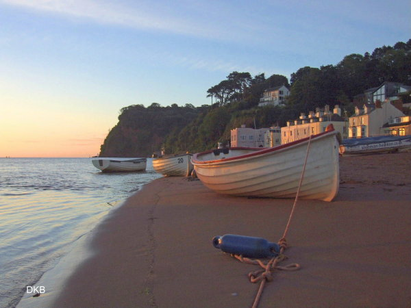First light Shaldon Beach