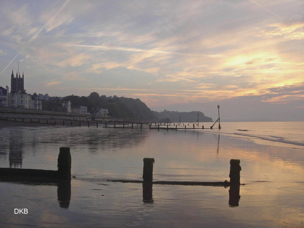 Early morning light Teignmouth Sands