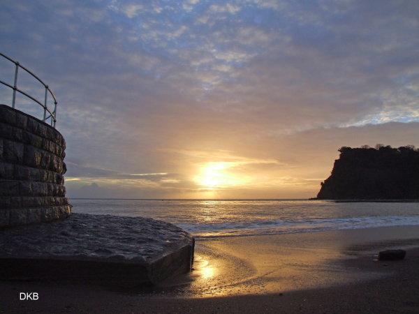 Sunrise The Ness Shaldon from The Point Car Park Teignmouth