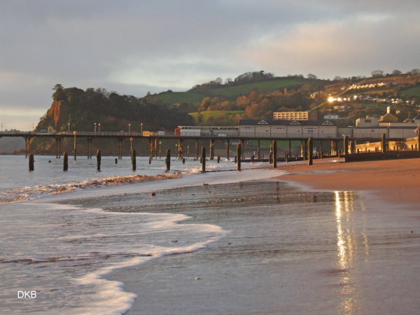 Morning light along Teignmouth Sands