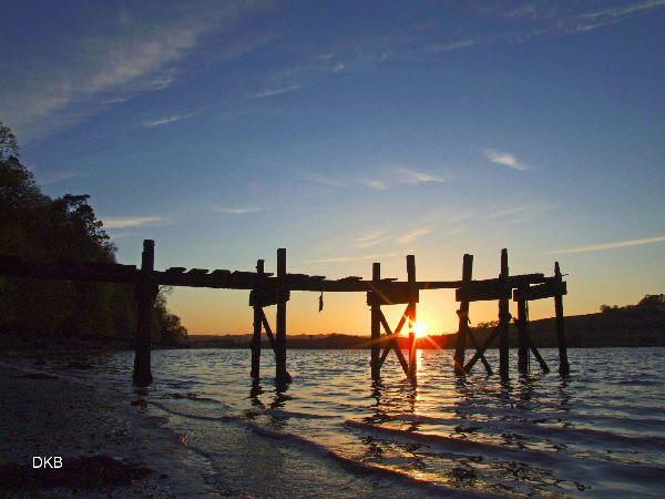 Sunset Netherton Jetty, Teign Estuary