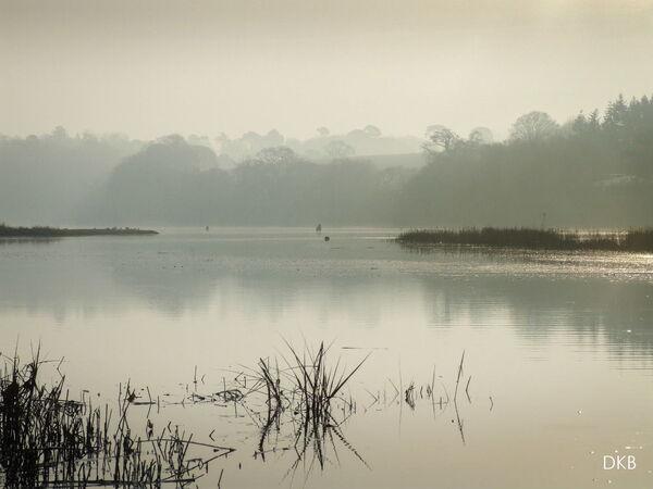 Misty morning Passage House, Teign Estuary