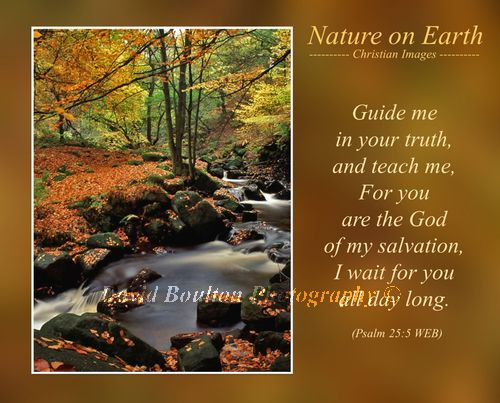 Guide me in your truth, and teach me, For you are the God of my salvation, I wait for you all day long. (Psalm 25:5 WEB)