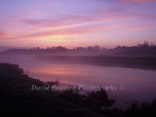 Morning mist before sunrise