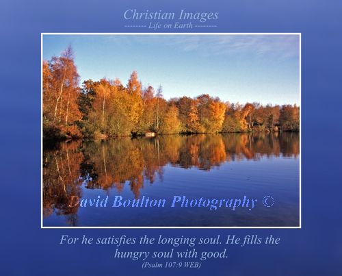 For he satisfies the longing soul. He fills the hungry soul with good. (Psalm 107:9 WEB)