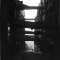 Early morning at Shad Thames 1976