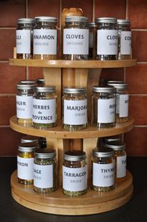 Spice rack full