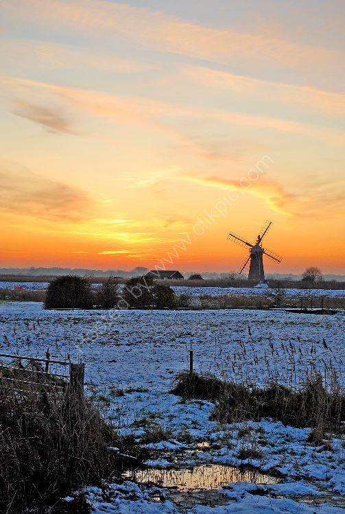 Winter Sunset at Thurne