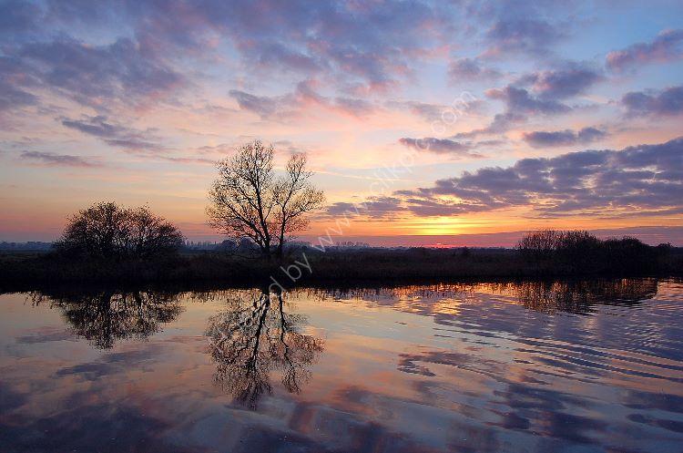 Winter Sunset on River Bure