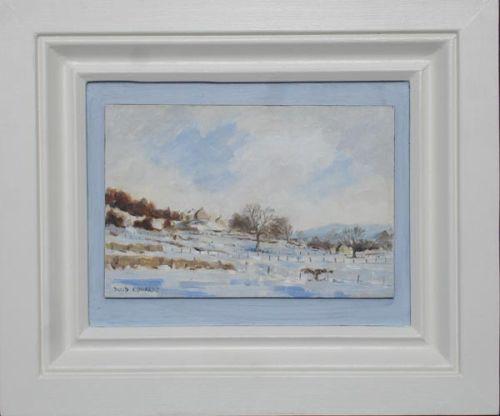 Winter snow at Preston-under-scar, Wensleydale