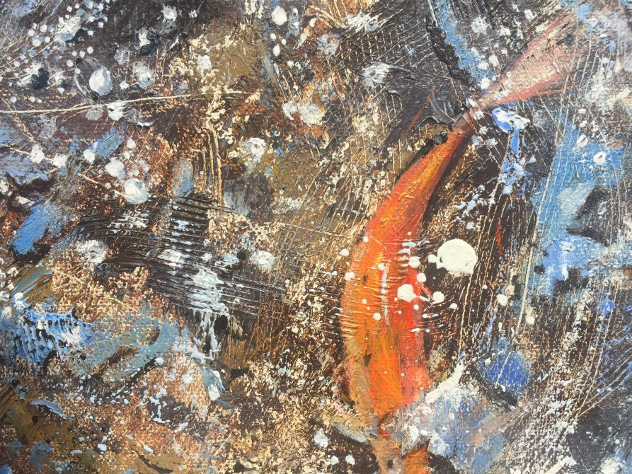 Detail from Blue water with fish