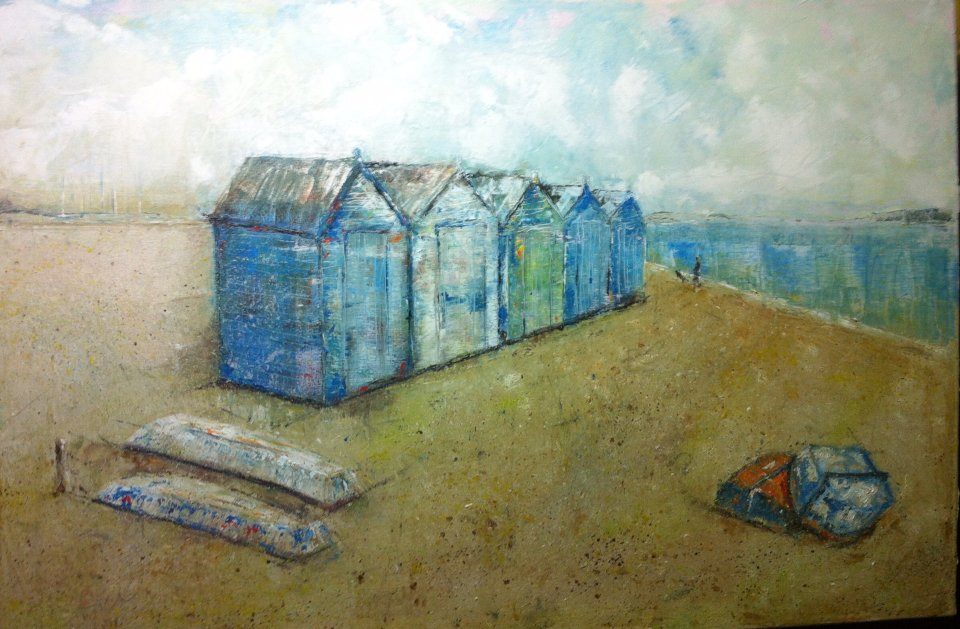 Old boats and beach huts