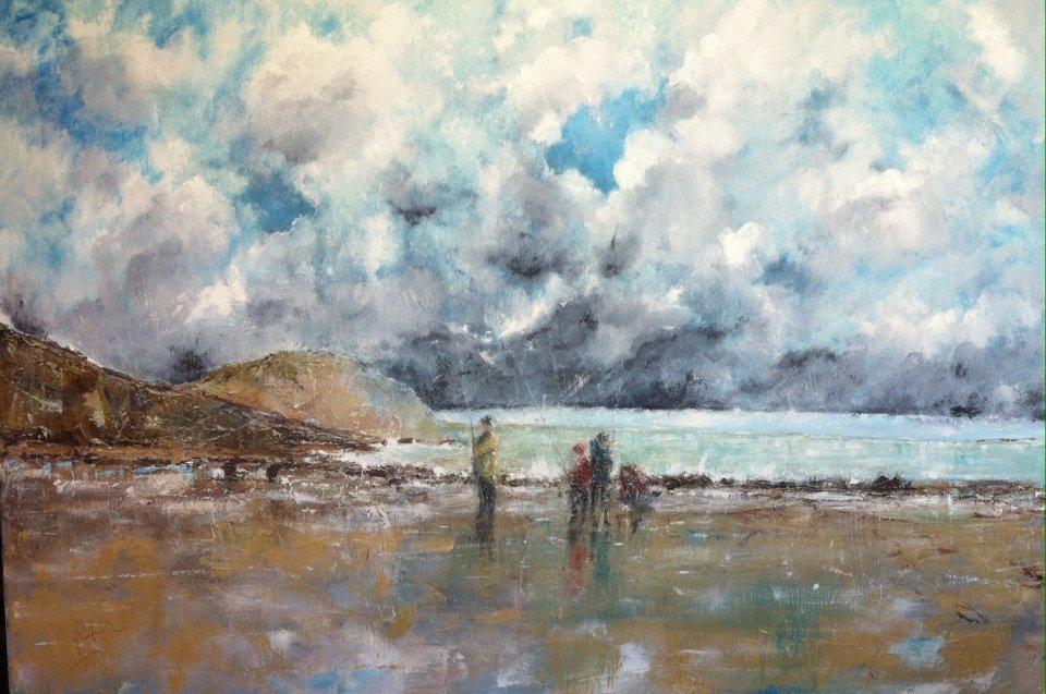 Charmouth: Beach anglers