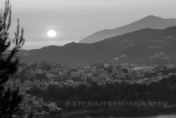 Sunrise over Skiathos Town