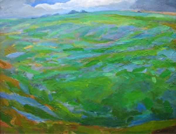 1992 'Ridgeway 1' oil on canvas