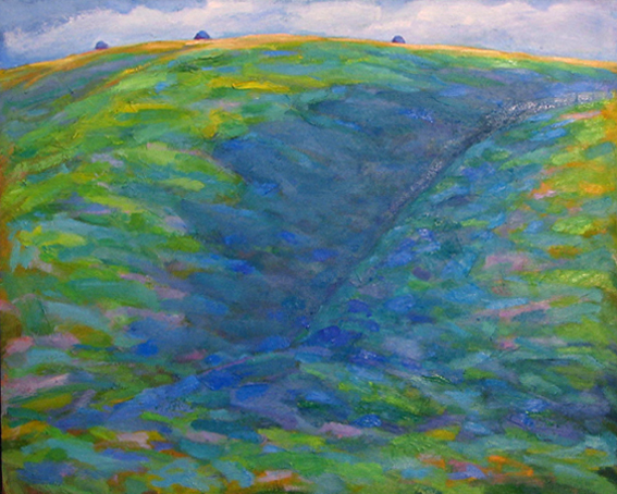 1994 'Uffington Hill' oil on canvas