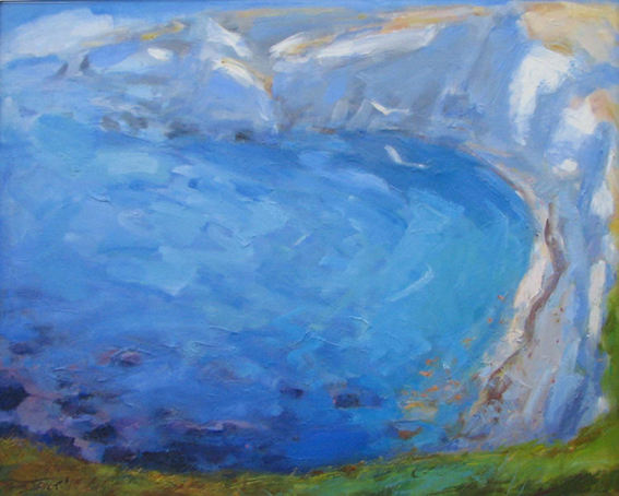 1995 'Lulworth Cove' oil on canvas