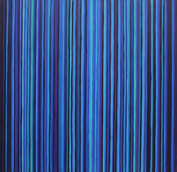 Blue Lines 2 60x60cm Acrylic on canvas 2005