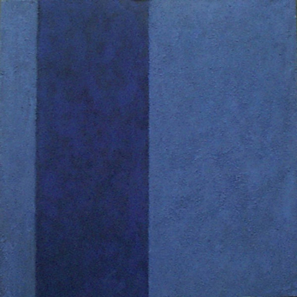 '8 Series, 8. Blue Plate 1.3.4.' 60x60cm Acrylic on canvas  2005 (private collection)
