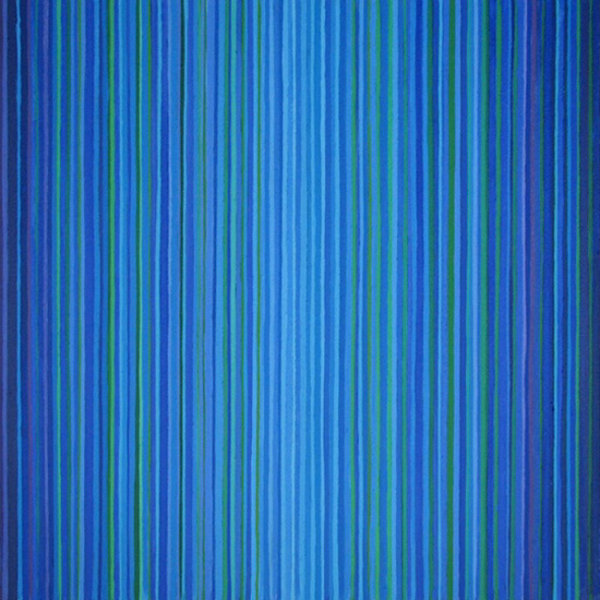 'Blue Lines 3' 60x60cm Acrylic on canvas 2005