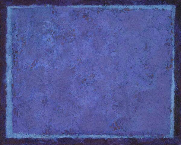 Blue Sheet 1. 30x24cm acrylic on board 2019