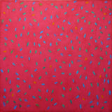 'Circulation on Red' 120x120cm Acrylic on canvas 2007