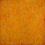 'Floating on Saffron' 60x60cm acrylic on canvas 2008