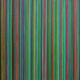'Green Lines '60x60cm Acrylic 2004
