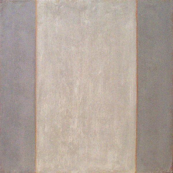 'Grey on Grey 1.' Acrylic on canvas 60x60cm 2004