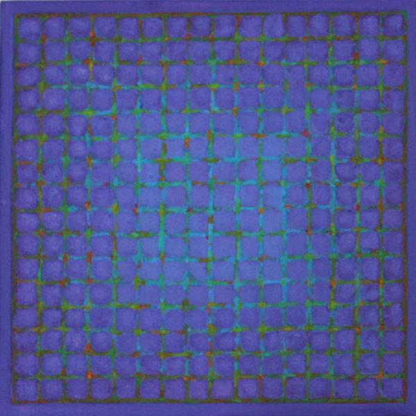 Grid - Blue on Blue Violet 45x45cm Acrylic on canvas 2015