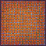 Grid - Blue on Orange 45x45cm Acrylic on canvas 2015