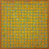 Grid - Blue on Yellow 45x45cm Acrylic on canvas 2014