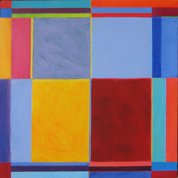 'In Rotation 2' 45x45 acrylic on canvas 2002