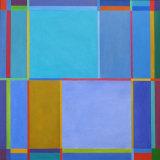 'Ionion Blue' 90x90cm acrylic on canvas 2002