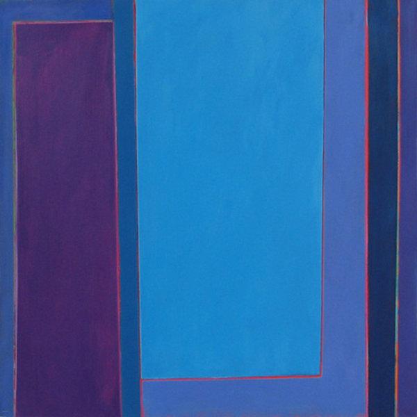 'Light Weight' - 90x90cm Acrylic on canvas  2006 (public collection - West Berks Hospital Trust)