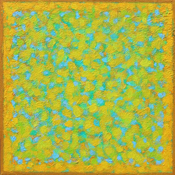 'Screen 3 Blue Yellow' 36x36cm acrylic on canvas 2016
