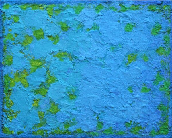 Summertime Blues 2. 30x24cm acrylic on board 2018