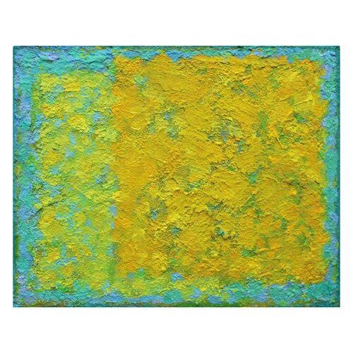 Yellow on Yellow. 30x24cm acrylic on board 2018