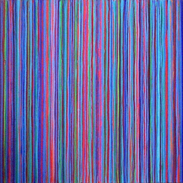 Blue Lines 60x60cm Acrylic on canvas 2004