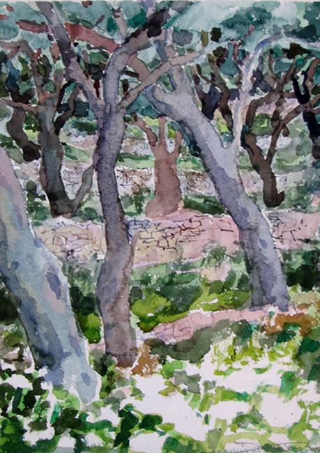 Marmari Paxos 2008 24x35cm watercolour
