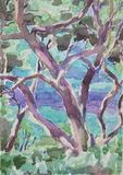 Marmari Paxos  2012 (4)  24x35cm watercolour