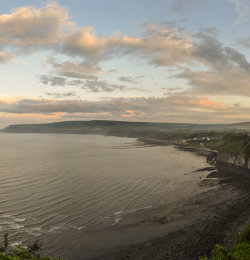 Summer sunrise at Robin Hoods Bay
