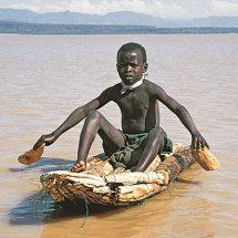 Ambach canoe on Lake Baringo, Kenya