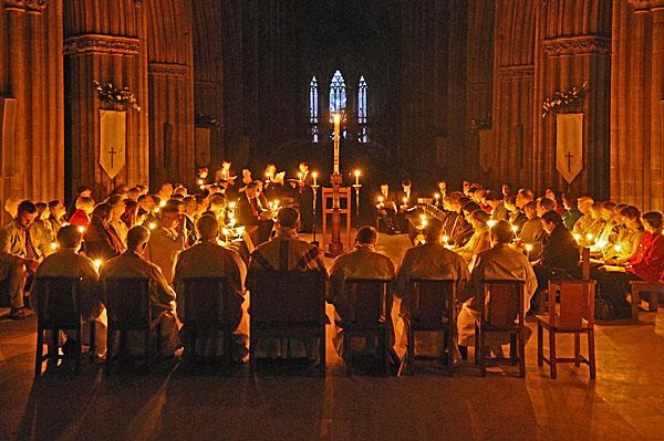 Candle lit service
