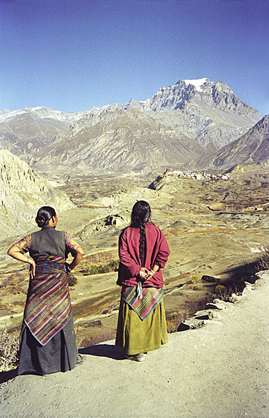Nepalese ladies in the Himalayas