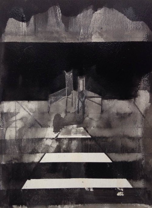 After The Speeches, 2016, 38x28cms, ink and gesso on paper