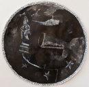 Stop the Clocks, 2017, ink, gesso, acrylic on paper, 110cm diameter