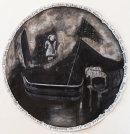 The Calming, 2017, ink, gesso, acrylic on paper, 110cm diameter